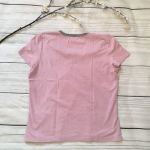 Roots Tops - Roots Pink & Gray Short Sleeve